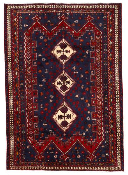 Afshar Rug 187X264 Authentic  Oriental Handknotted Dark Purple/Dark Red (Wool, Persia/Iran)