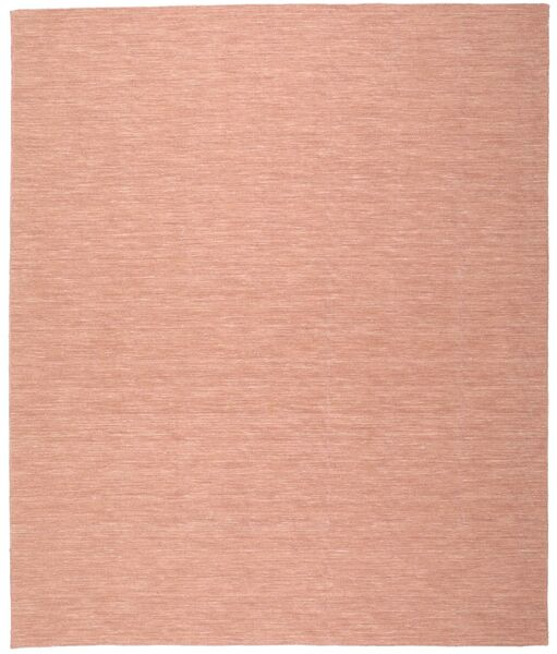 Kilim Loom - Dusty Rose Rug 200X250 Authentic  Modern Handwoven Crimson Red/Light Brown/Light Pink (Wool, India)
