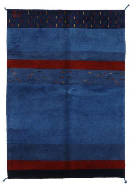 Gabbeh Indo Rug 143X205 Authentic  Modern Handknotted Dark Blue/Dark Purple (Wool, India)