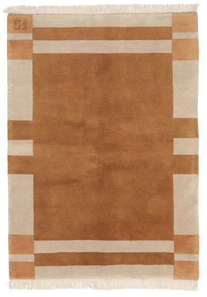 Gabbeh Indo Rug 141X197 Authentic  Modern Handknotted Brown/Beige (Wool, India)