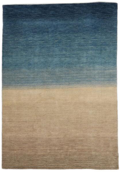 Gabbeh Indo Rug 158X240 Authentic  Modern Handknotted Light Brown/Dark Blue (Wool, India)