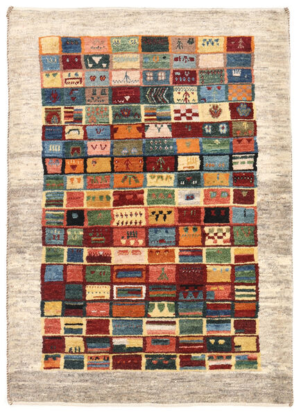 Gabbeh Persia Rug 84X118 Authentic  Modern Handknotted Beige/Dark Red (Wool, Persia/Iran)