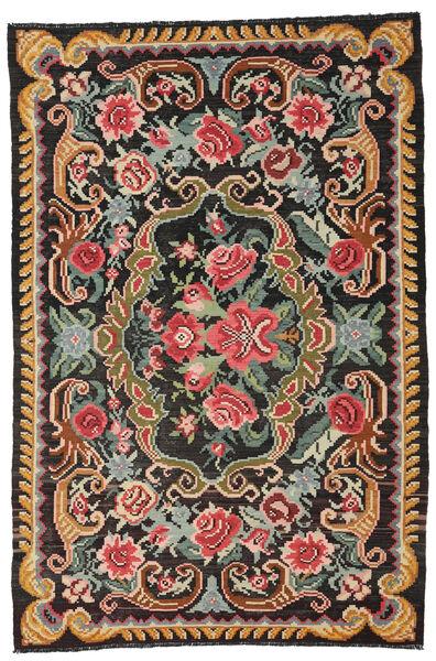Rose Kelim Moldavia Rug 191X285 Authentic  Oriental Handwoven Black/Dark Grey (Wool, Moldova)