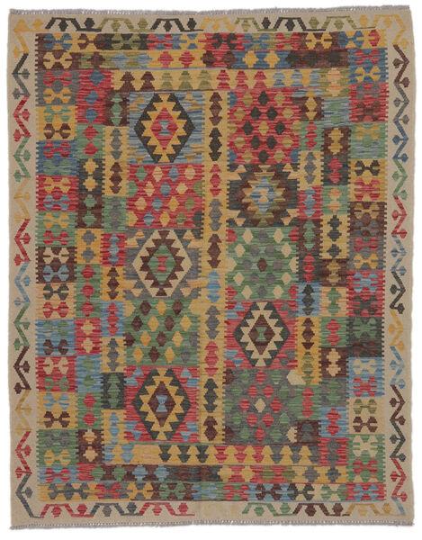 Kilim Afghan Old Style Rug 150X195 Authentic  Oriental Handwoven Brown/Black/Dark Brown (Wool, Afghanistan)
