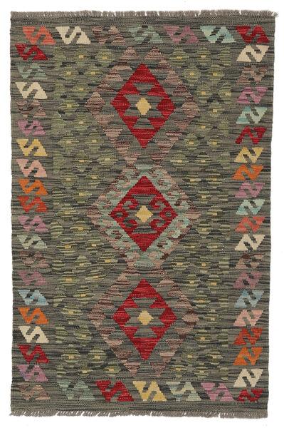 Kilim Afghan Old Style Rug 82X125 Authentic  Oriental Handwoven Black/Dark Brown/Dark Green (Wool, Afghanistan)