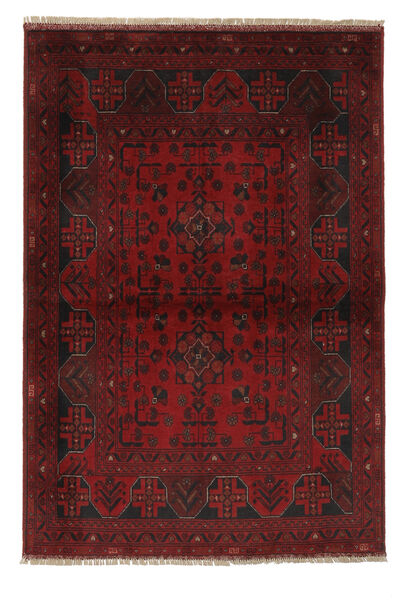 Afghan Khal Mohammadi Rug 104X153 Authentic  Oriental Handknotted Black/White/Creme (Wool, Afghanistan)