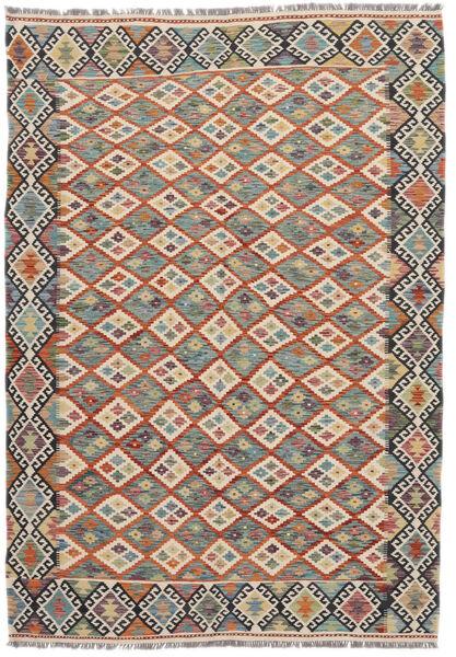 Kilim Afghan Old Style Rug 172X246 Authentic  Oriental Handwoven Dark Grey/Dark Brown (Wool, Afghanistan)