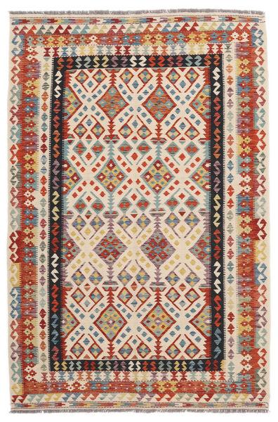 Kilim Afghan Old Style Rug 166X254 Authentic  Oriental Handwoven Crimson Red/Black (Wool, Afghanistan)