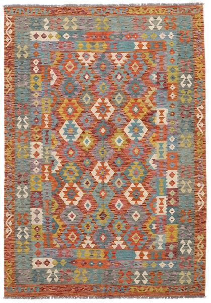 Kilim Afghan Old Style Rug 172X245 Authentic  Oriental Handwoven Dark Brown/Dark Grey (Wool, Afghanistan)