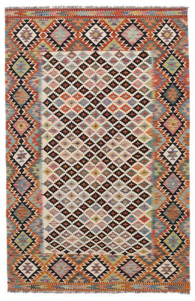 Kilim Afghan Old Style Rug 158X244 Authentic  Oriental Handwoven Black/Dark Brown (Wool, Afghanistan)