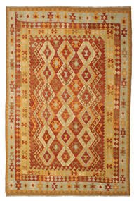 Kilim Afghan Old Style Rug 197X293 Authentic  Oriental Handwoven (Wool, Afghanistan)