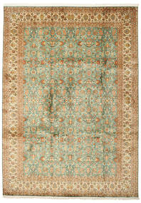 Kashmir Pure Silk Rug 223X313 Authentic  Oriental Handknotted (Silk, India)