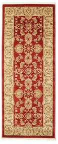 Ziegler Kaspin - Red Rug 80X200 Oriental Hallway Runner  Dark Beige/Crimson Red ( Turkey)