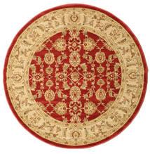 Ziegler Kaspin - Red Rug Ø 150 Oriental Round Dark Beige/Rust Red ( Turkey)
