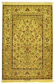 Isfahan Silk Warp Pictorial Signed: Nasr Rug 142X210 Authentic  Oriental Handknotted (Wool/Silk, Persia/Iran)