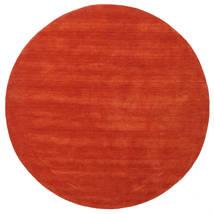 Handloom - Rust/Red Rug Ø 200 Modern Round Rust Red (Wool, India)