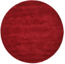 Handloom - Dark Red Rug Ø 150 Modern Round Crimson Red/Dark Red (Wool, India)