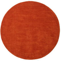 Handloom - Rust/Red Rug Ø 150 Modern Round Rust Red (Wool, India)