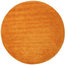 Handloom - Orange Rug Ø 150 Modern Round Orange/Light Brown (Wool, India)