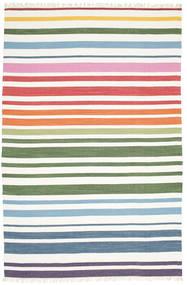 Rainbow Stripe - White Rug 200X300 Authentic  Modern Handwoven White/Creme (Cotton, India)