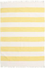 Cotton Stripe - Yellow Rug 140X200 Authentic  Modern Handwoven Beige/Yellow (Cotton, India)