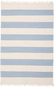 Cotton Stripe - Light Blue Rug 140X200 Authentic  Modern Handwoven Beige/Light Blue (Cotton, India)