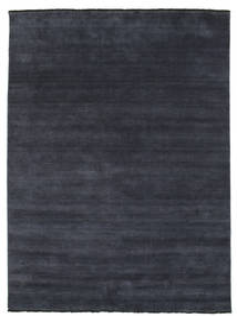 Handloom Fringes - Dark Blue Rug 200X250 Modern Black (Wool, India)