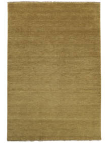 Handloom Fringes - Olive Green Rug 160X230 Modern Olive Green (Wool, India)