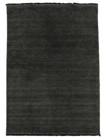 Handloom Fringes - Black/Grey Rug 160X230 Modern Black/Dark Grey (Wool, India)
