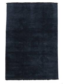 Handloom Fringes - Dark Blue Rug 140X200 Modern Dark Blue/Blue (Wool, India)