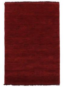 Handloom Fringes - Dark Red Rug 140X200 Modern Crimson Red (Wool, India)