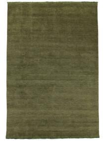 Handloom Fringes - Green Rug 300X400 Modern Olive Green Large (Wool, India)