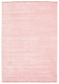 Handloom Fringes - Pink Rug 140X200 Modern Light Pink (Wool, India)
