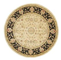 Farahan Ziegler - Beige Rug Ø 150 Oriental Round Dark Beige/Beige/Light Brown ( Turkey)