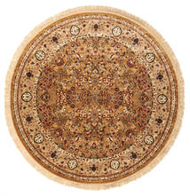 Kerman Diba - Brown Rug Ø 250 Modern Round Brown/Dark Beige Large ( Turkey)