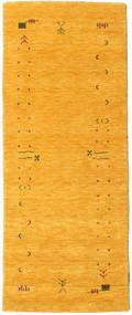 Gabbeh Loom Frame - Yellow Rug 80X200 Modern Hallway Runner  Yellow (Wool, India)