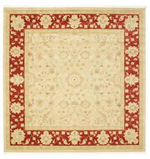 Farahan Ziegler - Beige/Red Rug 300X300 Oriental Square Yellow/Light Brown Large ( Turkey)