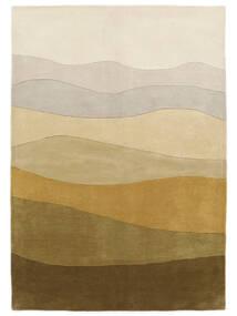 Feeling Handtufted - Brown Rug 140X200 Modern Olive Green/Dark Beige (Wool, India)