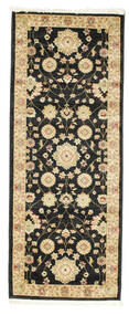 Farahan Ziegler - Black Rug 80X200 Oriental Hallway Runner  Black/Light Brown ( Turkey)
