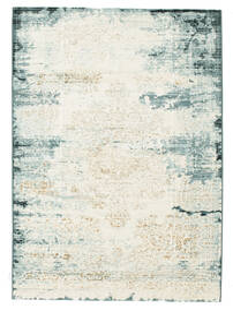 Alaska - Light Blue/Cream Rug 140X200 Modern Light Grey/White/Creme/Beige ( Turkey)