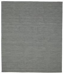 Kilim Loom - Dark Grey Rug 250X300 Authentic  Modern Handwoven Dark Green/Light Grey Large (Wool, India)