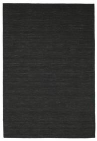 Kilim Loom - Black Rug 200X300 Authentic  Modern Handwoven Black (Wool, India)