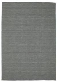 Kilim Loom - Dark Grey Rug 200X300 Authentic  Modern Handwoven Dark Green (Wool, India)
