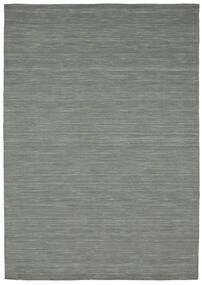 Kilim Loom - Dark Grey Rug 160X230 Authentic  Modern Handwoven Light Grey/Dark Green (Wool, India)