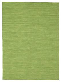 Kilim Loom - Green Rug 160X230 Authentic  Modern Handwoven Olive Green (Wool, India)