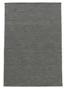 Kilim Loom - Dark Grey Rug 140X200 Authentic  Modern Handwoven Dark Green/Light Grey (Wool, India)