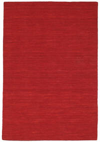 Kilim Loom - Dark Red Rug 120X180 Authentic  Modern Handwoven Crimson Red (Wool, India)