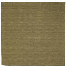Kilim Loom - Olive Rug 250X250 Authentic  Modern Handwoven Square Olive Green Large (Wool, India)