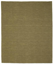 Kilim Loom - Olive Rug 250X300 Authentic  Modern Handwoven Olive Green Large (Wool, India)
