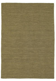 Kilim Loom - Olive Rug 140X200 Authentic  Modern Handwoven Olive Green (Wool, India)